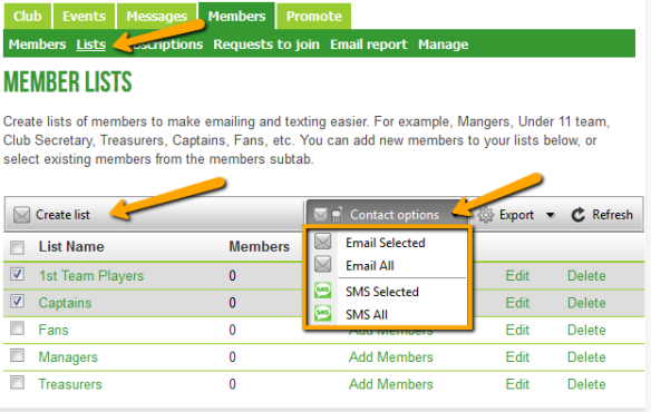 Member Lists