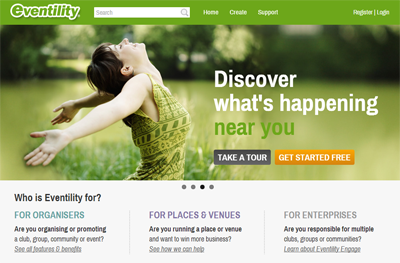 Eventility New Home Page